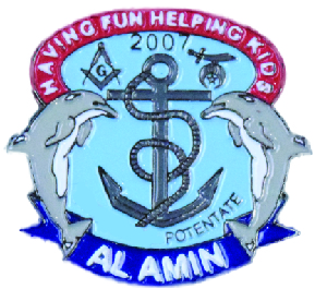 Anchor and Dolphins Pin