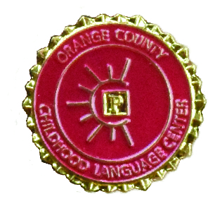 Red and Gold Pin